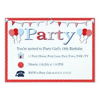 バントのパーティーの招待 12.7 X 17.8 インビテーションカード