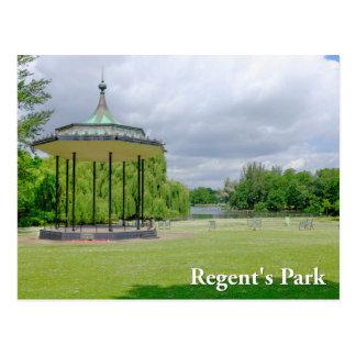 バンド立場の理事の公園のロンドンの郵便はがき ポストカード