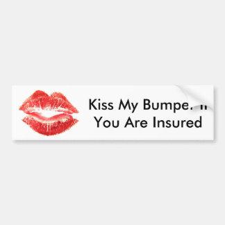 バンパーステッカーのキス私のバンパー被保険者なら バンパーステッカー