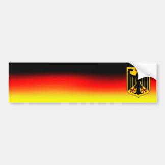 バンパーステッカーのドイツの旗色そして紋章付き外衣 バンパーステッカー