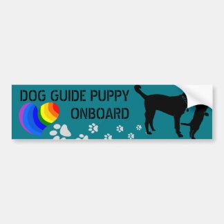 バンパーステッカーの上の犬ガイド-それをカスタマイズ! バンパーステッカー