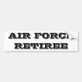 バンパーステッカーの空軍退職者 バンパーステッカー