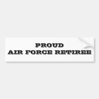 バンパーステッカーの誇り高い空軍退職者 バンパーステッカー