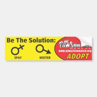 バンパーステッカーを卵巣摘出して下さい、中性化して下さい、採用して下さい バンパーステッカー
