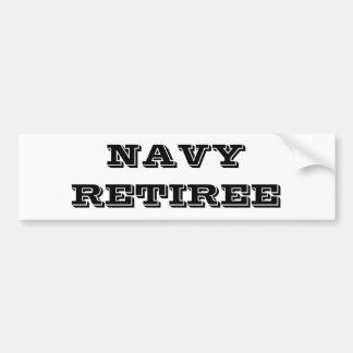 バンパーステッカー海軍退職者 バンパーステッカー