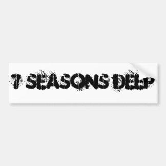 バンパーステッカー深い7季節 バンパーステッカー