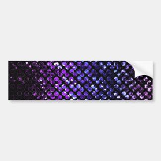 バンパーステッカー紫色の水晶きらきら光るなStrass バンパーステッカー
