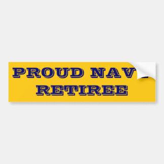 バンパーステッカー誇り高い海軍退職者 バンパーステッカー