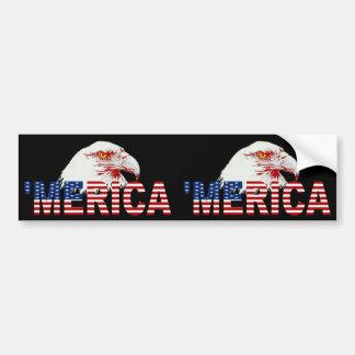 「バンパーステッカー2 1のMERICA米国の旗及びワシ バンパーステッカー