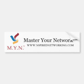 バンパーステッカー-あなたのネットワークを習得して下さい バンパーステッカー