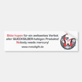 バンパーステッカー(ドイツ語、白い) バンパーステッカー