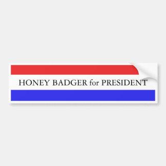 バンパーステッカー:  大統領のためのラーテル バンパーステッカー