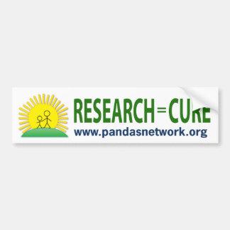 バンパーステッカー: 研究=治療 バンパーステッカー
