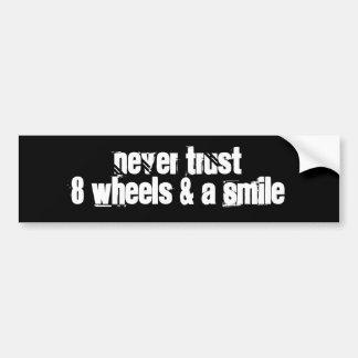 バンパーステッカー: 車輪 バンパーステッカー