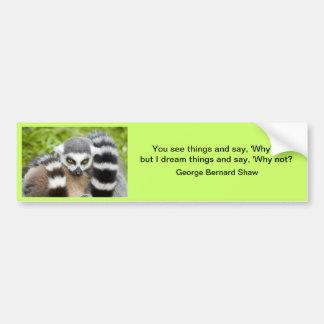 バンパーステッカー- LemurのStripeyのかわいい尾 バンパーステッカー