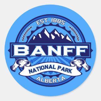 バンフ国立公園のロゴ ラウンドシール