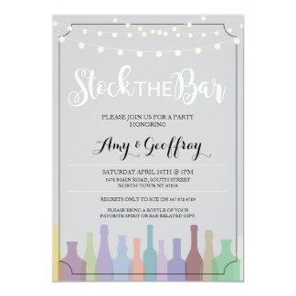 バーの灰色のパーティーの婚約のカップルの招待に貯蔵して下さい 12.7 X 17.8 インビテーションカード