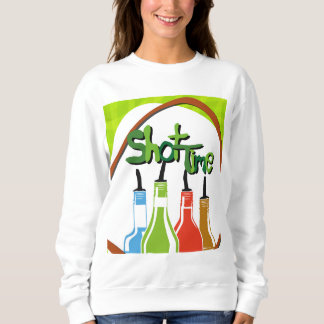 バーの絵アルコールボトル スウェットシャツ