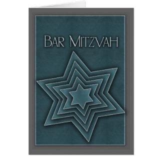 バーの(ユダヤ教の)バル・ミツバーの大人の招待 カード