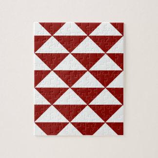 バーガンディおよび白い三角形 ジグソーパズル
