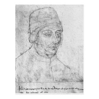 バーガンディのジョン、カンブレーの司教 ポストカード