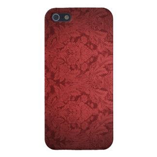 バーガンディのダマスク織のIPhoneカバー iPhone 5 Case