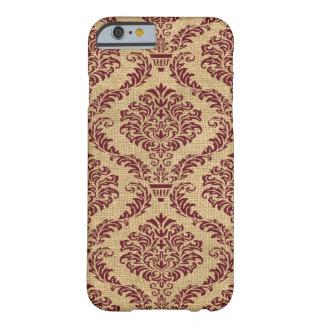 バーガンディのパリの気分のダマスク織 BARELY THERE iPhone 6 ケース