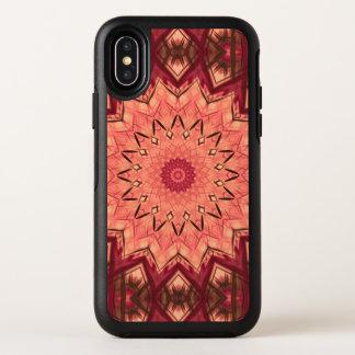 バーガンディのピンクの幾何学的な曼荼羅 オッターボックスシンメトリー iPhone X ケース