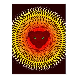 バーガンディのライオン ポストカード