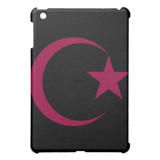バーガンディの三日月及びStar.png iPad Miniケース