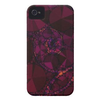 バーガンディの暗いきらきら光るな抽象芸術 Case-Mate iPhone 4 ケース