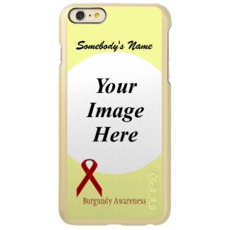 バーガンディの標準的なリボンのテンプレート INCIPIO FEATHER SHINE iPhone 6 PLUSケース