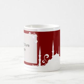 バーガンディの渦巻のモスクの写真のマグ コーヒーマグカップ