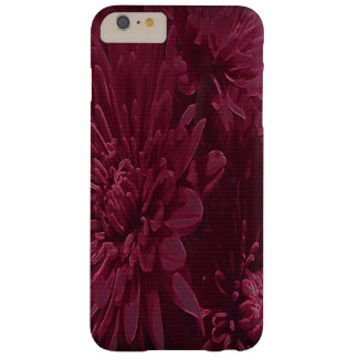 バーガンディの菊のiPhone 6つのプラスのケース Barely There iPhone 6 Plus ケース