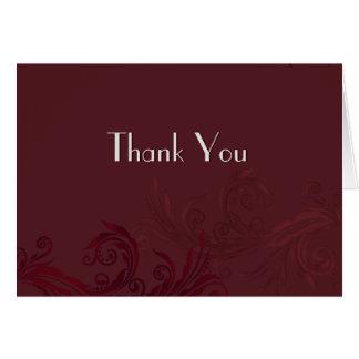 バーガンディの華麗さは任意写真との感謝していしています カード