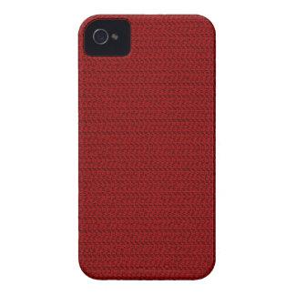 バーガンディの赤い織り方の一見 Case-Mate iPhone 4 ケース