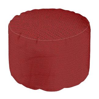 バーガンディの赤い織り方の網の一見 プーフ
