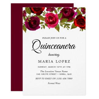 バーガンディの赤によってはキンセアニェラのエレガントな招待が開花します カード