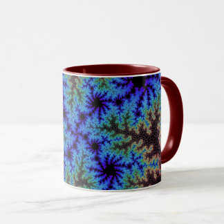 バーガンディの青い斑点のマグ マグカップ