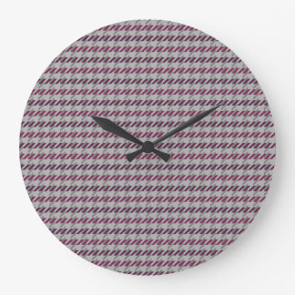 バーガンディ千鳥格子のなパターン柱時計 ラージ壁時計