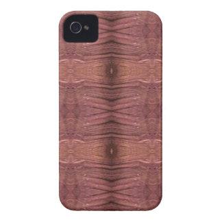 バーガンディ挨りだらけのばら色のモダンでファンキーなパターン Case-Mate iPhone 4 ケース