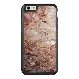 バーガンディ深紅色のStoneyの小石の大理石の終わり オッターボックスiPhone 6/6s Plusケース