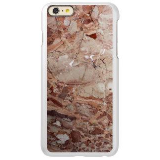バーガンディ深紅色のStoneyの小石の大理石の終わり Incipio Feather Shine iPhone 6 Plusケース