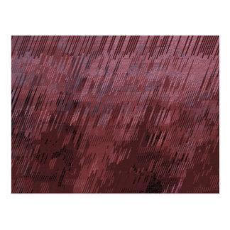 バーガンディ雨 ポストカード