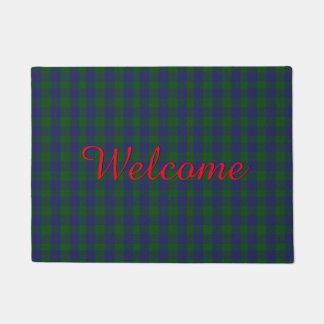 バークレイのタータンチェック格子縞の歓迎のドア・マット ドアマット
