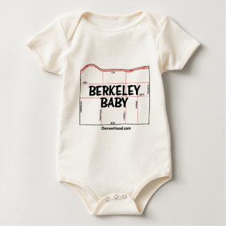 バークレーのベビーの近隣の地図-黒い文字 ベビーボディスーツ