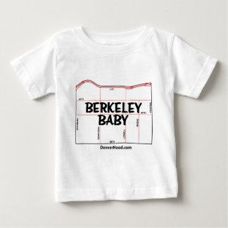 バークレーのベビーの近隣の地図-黒い文字 ベビーTシャツ