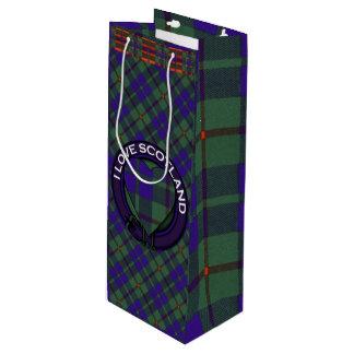 バークレーの一族の格子縞のスコットランドのキルトのタータンチェック ワインギフトバッグ