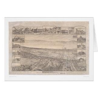 バークレーのCA.のパノラマ式の地図1891年(0099A元通りになる) - カード