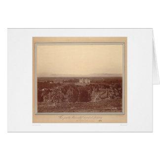 バークレー(1337年)の大学地面からの眺め カード